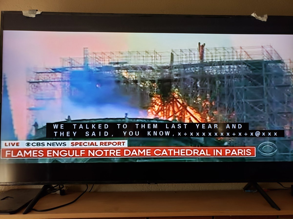 Notre Dame in Paris on fire