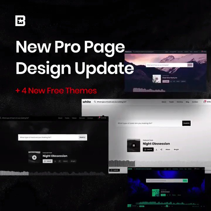 #BeatStars is excited to announce a NEW #ProPage Design + Four NEW Themes 🔥🙌😱  Info 👉 http://bit.ly/newpropage
