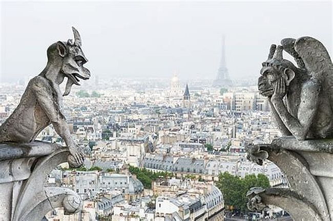 A few of the famous gargoyles of Notre Dame Cathedral. #NotreDame #Paris #Gothic