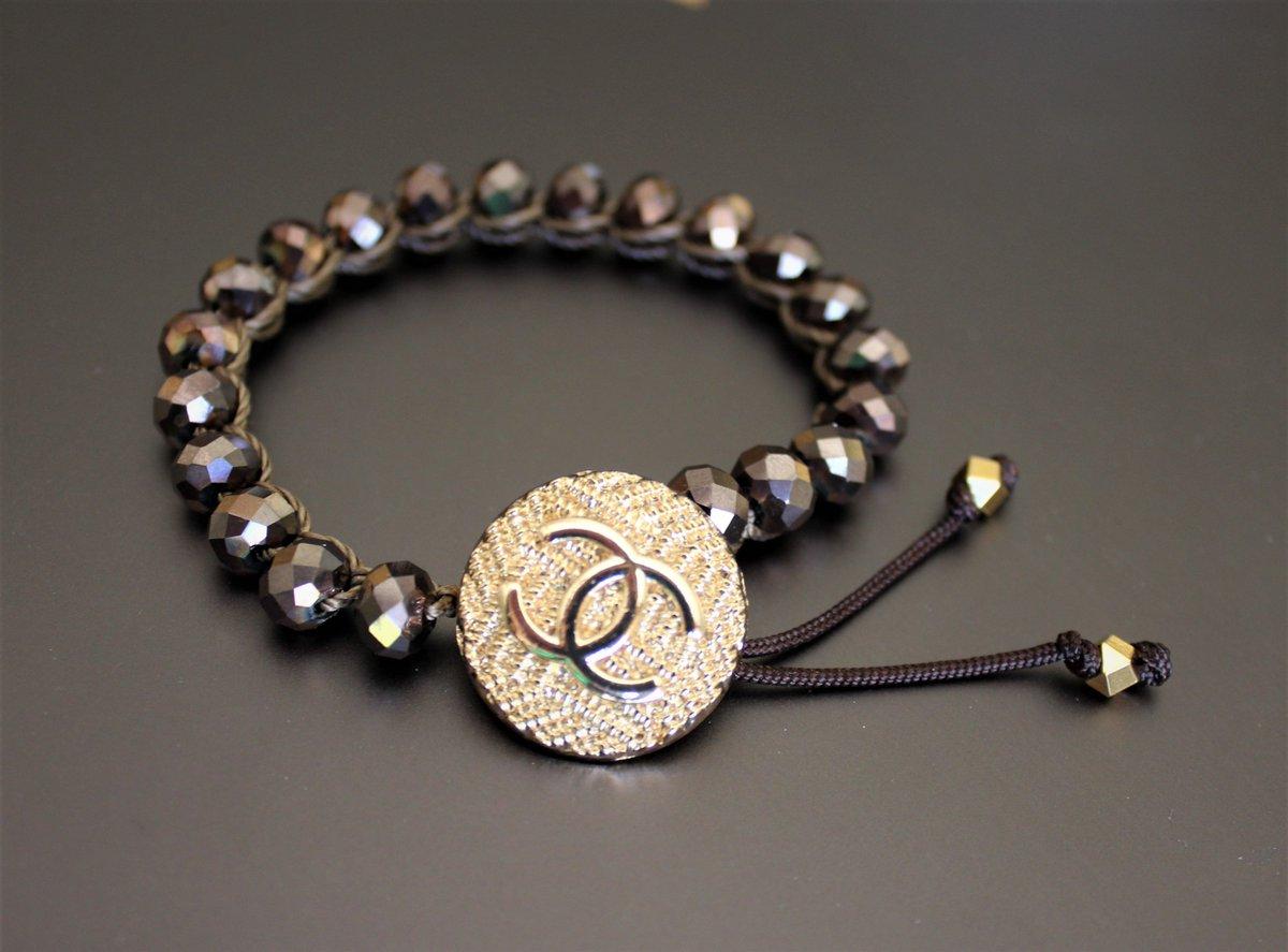 Handmade Chanel button bracelets.  Dm for order this beauty 😍❤️  #handmadechanel  #chaneljewelry #vintagechanel #chanelvintage #chanellover #chanelaccessories #classicchanel #upscalejewelry #Mothersdaygift #Doublelayerdbracelets #Cuffbracelets #handcrochetedjewelry