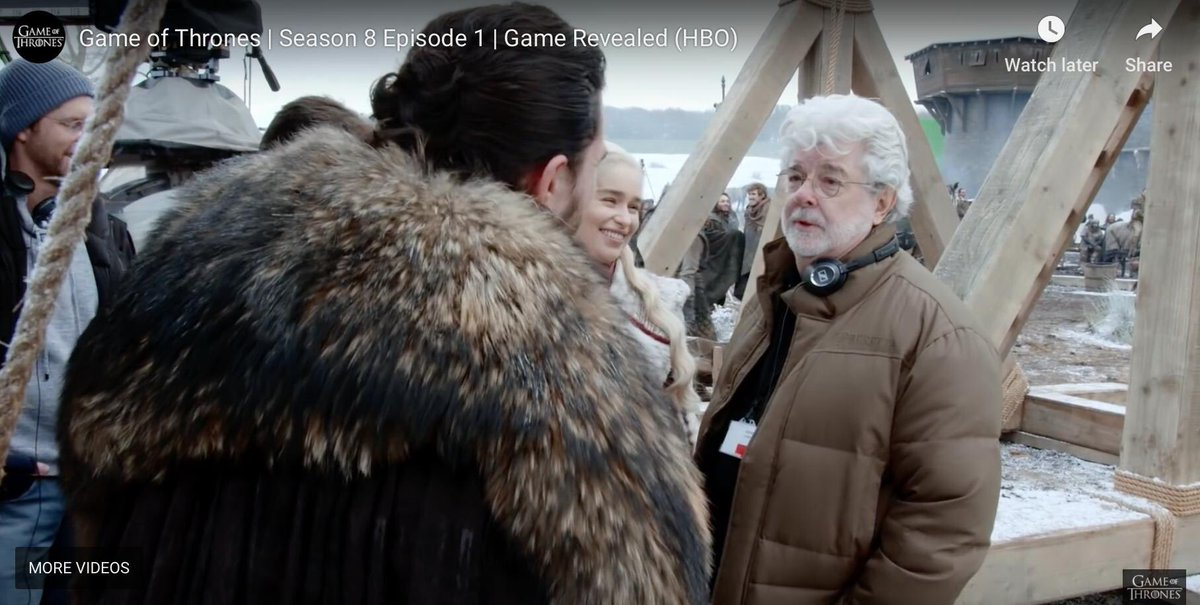 George Lucas visiting the set of Game of Thrones.
