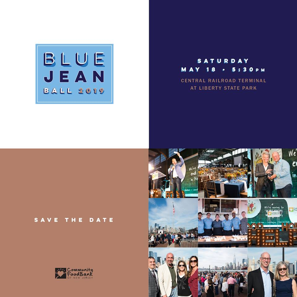 Blue Jean Ball is centered on our mission of Food, Help and Hope. This year, we will honor @WakefernFood, Judy and Josh Weston, and @SMG_Foundation and seven of our agency partners. The program will feature, New Jersey's own @AdamSank http://cfbnj.org/bluejeanball2019….