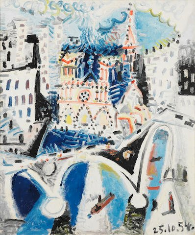 This #WorldArtDay we're remembering the #NotreDameCathedral as #Picasso saw it in 1954.  #DiaMundialDelArte<br>http://pic.twitter.com/OtQAhZXccu