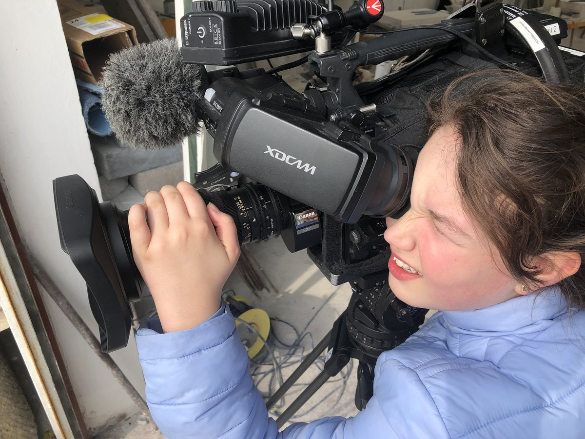 Teaching them young, a sneaky view from todays filming. #cameraman #dorset #cameraoperator #tv #news #stone #history #project #portland #feature #somerset #devon #broadcast #livestream