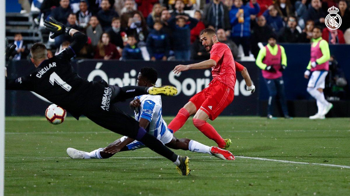 هدف تعادل ريال مدريد مع ليجانيس - كريم بنزيما
