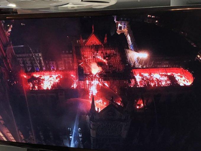 Incendio en la catedral de Notre Dame, París el 15/04/2019