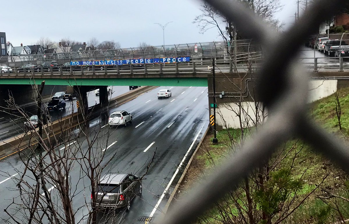 Spotted on the Savin Hill Ave overpass. #OneBostonDay <br>http://pic.twitter.com/udiNywfJMD