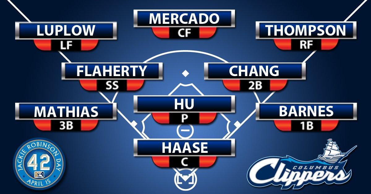 Tonight&#39;s #Clip9:  1. Mercado 2. Maybin (DH) 3. Barnes 4. Flaherty 5. Luplow 6. Chang 7. Haase 8. Thompson 9. Mathias - SP: Hu  #ThankYouJackie <br>http://pic.twitter.com/ZYZqb9r41y