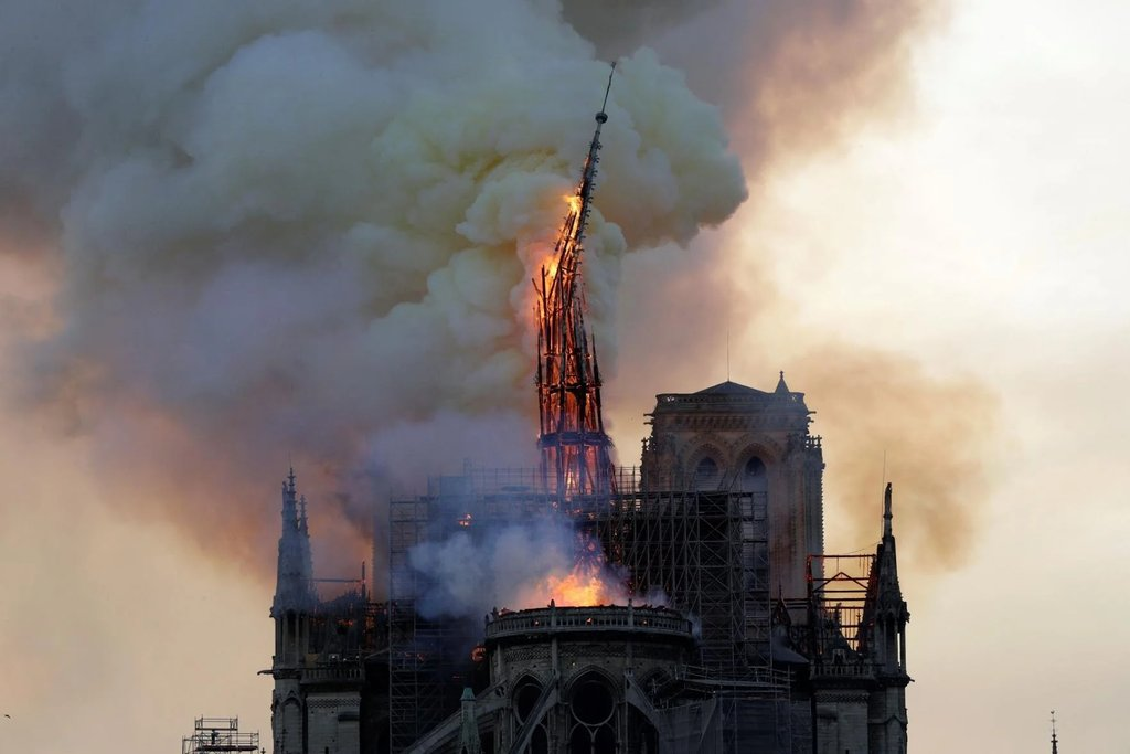 A tragedy. Thoughts to France and around the World. #NotreDameFire  #MondayThoughts <br>http://pic.twitter.com/U9fo6dzP2b