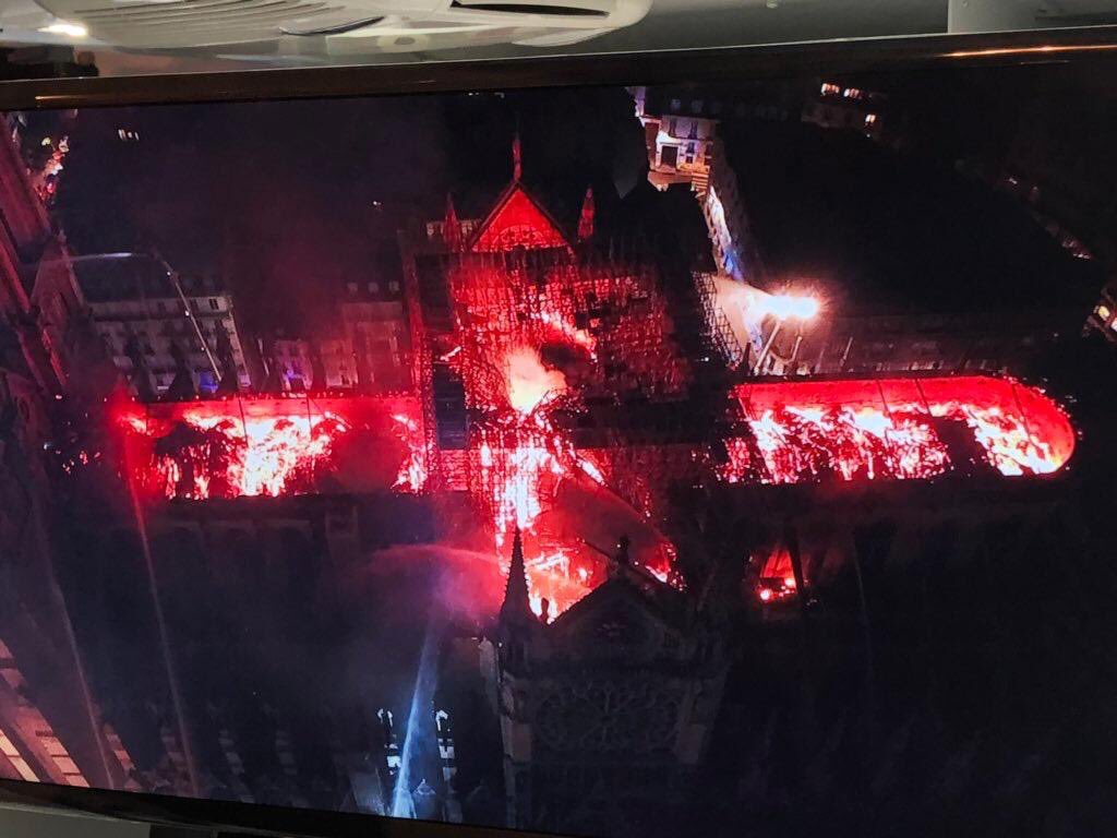 Devastating fire from above.