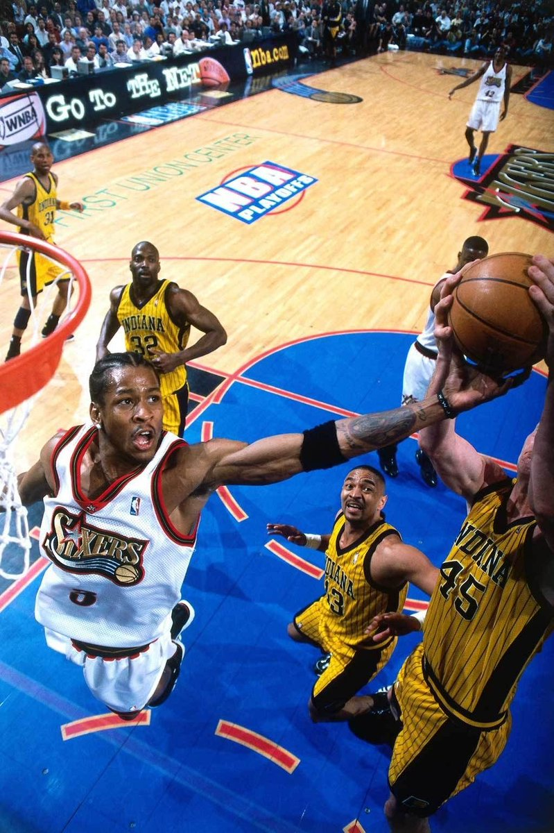 Losing Game 1 was NOT the end of the World!   The last time the #Sixers went to the NBA Finals in 2001 the Sixers also lost game 1 in the 1st round when Allen Iverson &amp; the Sixers blew a 17 point 2nd half lead to the Pacers in the best of 5 series   @6abc  #TrustTheProcess<br>http://pic.twitter.com/3eGSPNUieU