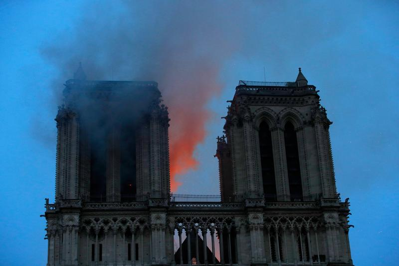 MORE: Notre-Dame's two towers have now been saved - French firefighting official https://reut.rs/2KGbB8a