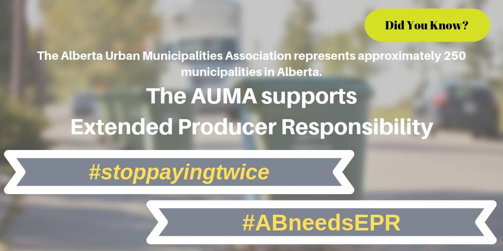 @TheAUMA has been advocating for EPR for years. EPR is in the best interest of all of the communities it represents, and also the citizens in those communities. It saves everybody MONEY! #stopppayingtwice #ABneedsEPR #ableg #abpoli #abvote #yyc #yyccc