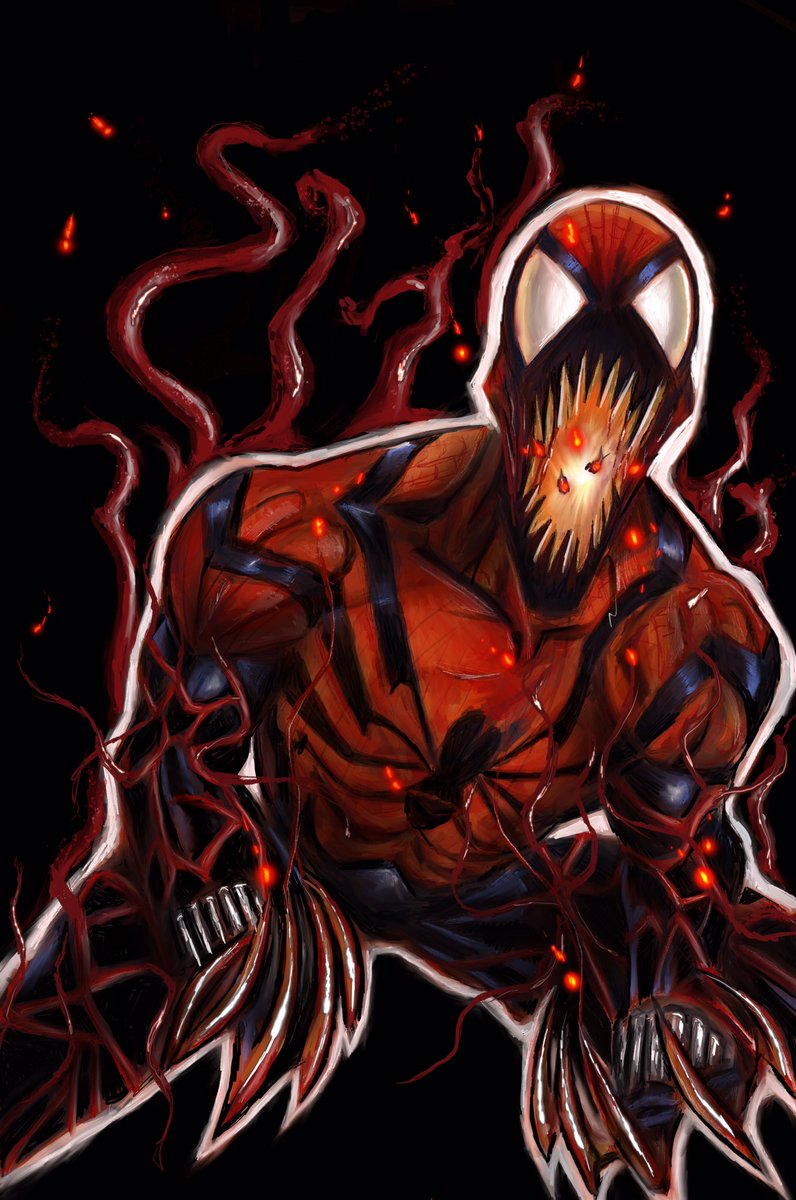 #SpiderCarnage #spiderverse #marvel #WorldArtDay #WorldArtDay2019 #carnage #digitalpainting Thank-you to the amazingly talented @Briank_X for always taking time to give me advice and push me to try new things with all of my art! You and D are the best!<br>http://pic.twitter.com/jK6KU3VSb5