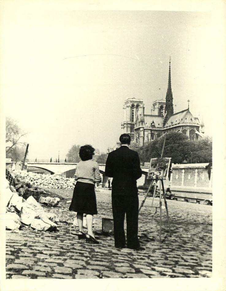 #NotreDame  (una mirada a través de la pintura)  Abro HILO con dolor en el corazón viendo las últimas imágenes del incendio