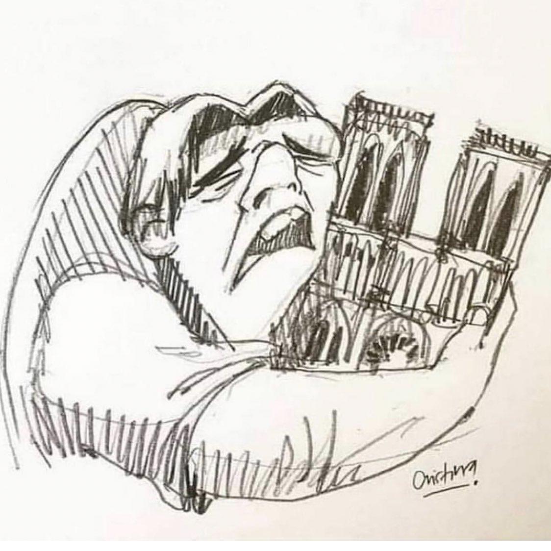 RT @AruanFelix: 😢💙 #PrayForNotreDame https://t.co/5se2DxH3YK