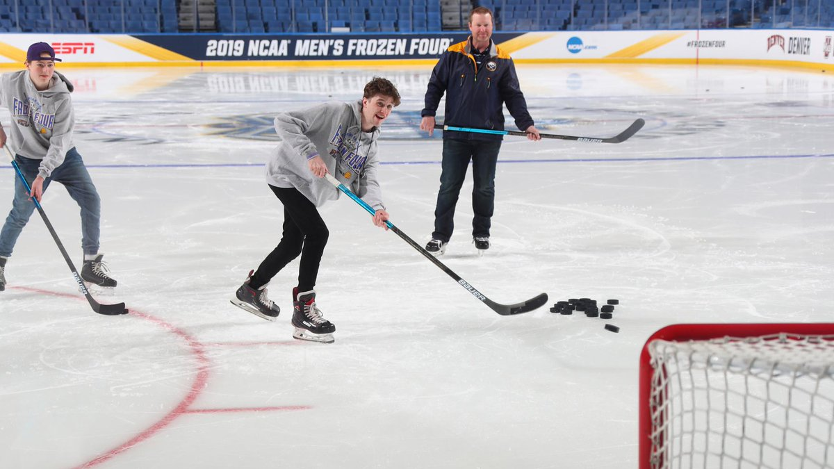 #Sabres alum Jordan Leopold helped The Children's Wish Foundation of Canada fulfill Alex Tingay's wish at the #FrozenFour this past weekend.   It was an experience to remember: http://bufsabres.co/xUVySG