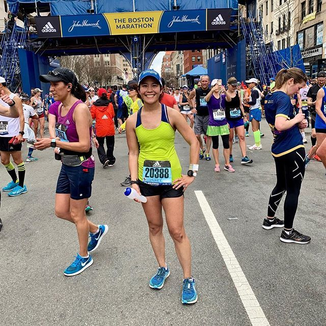 Woohoo! I finished the Boston Marathon!! Such an amazing experience with the awesome spectators and all. It was a rough one though. So warm out for me and I ended up cramping and having to walk. But so happy to finish.  #bostonmarathon #boston2019  http:// bit.ly/2PbLIvn  &nbsp;  <br>http://pic.twitter.com/B3Dkmq9Fnw