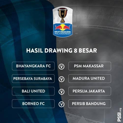 Jadwal Persib Bandung di Babak 8 Besar Piala Indonesia