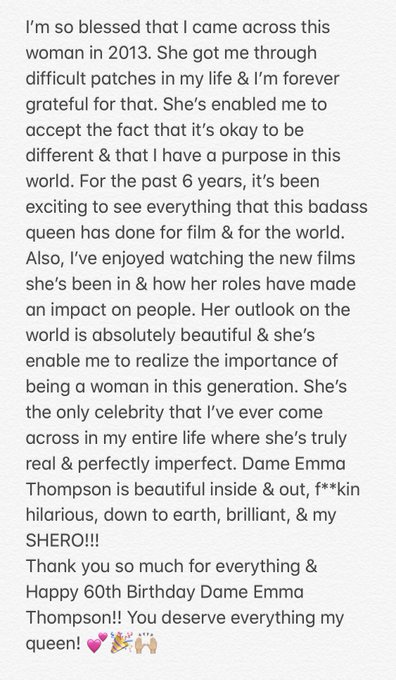 Happy 60th Birthday Dame Emma Thompson!!