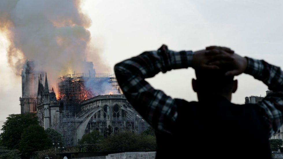 #BREAKING: Officials say Notre Dame's main structure is saved and preserved after fire https://t.co/4JBMti11tf https://t.co/Fh9KUY8awW