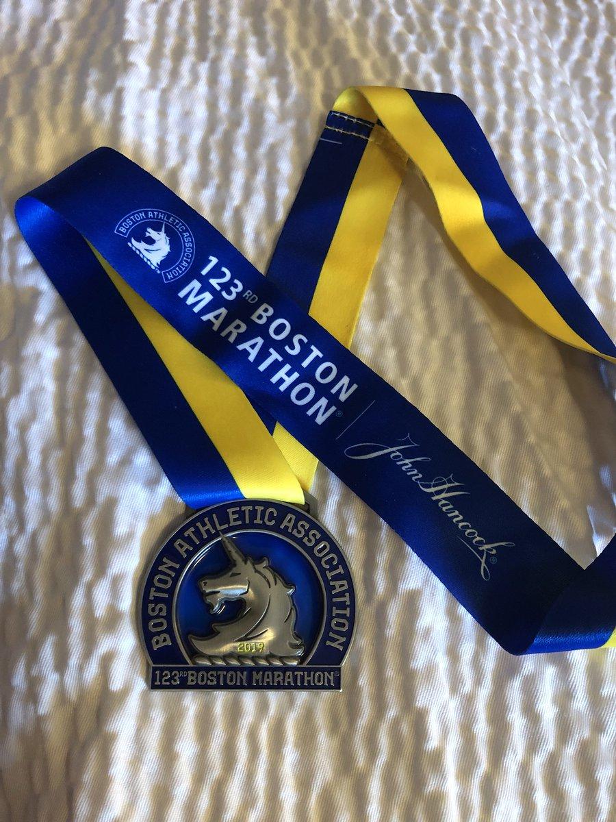 Finally got my Unicorn! #Boston2019 #marathonmonday<br>http://pic.twitter.com/7CFpLstdAe