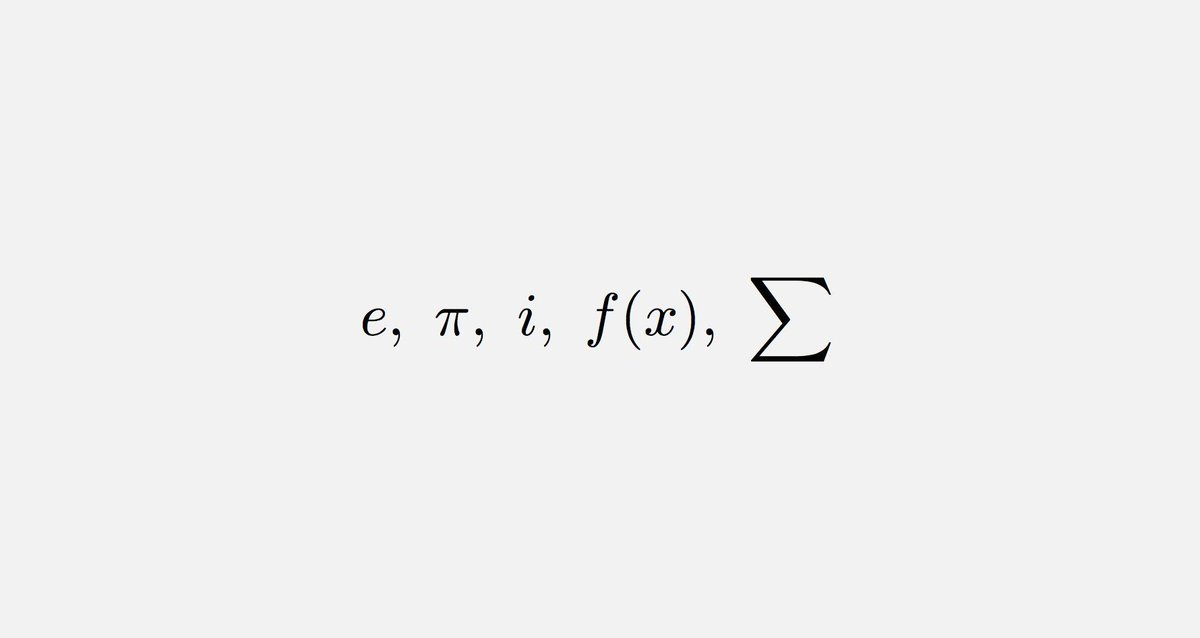 Euler was born exactly 312 years ago. All the following symbols and notations were introduced by Euler.