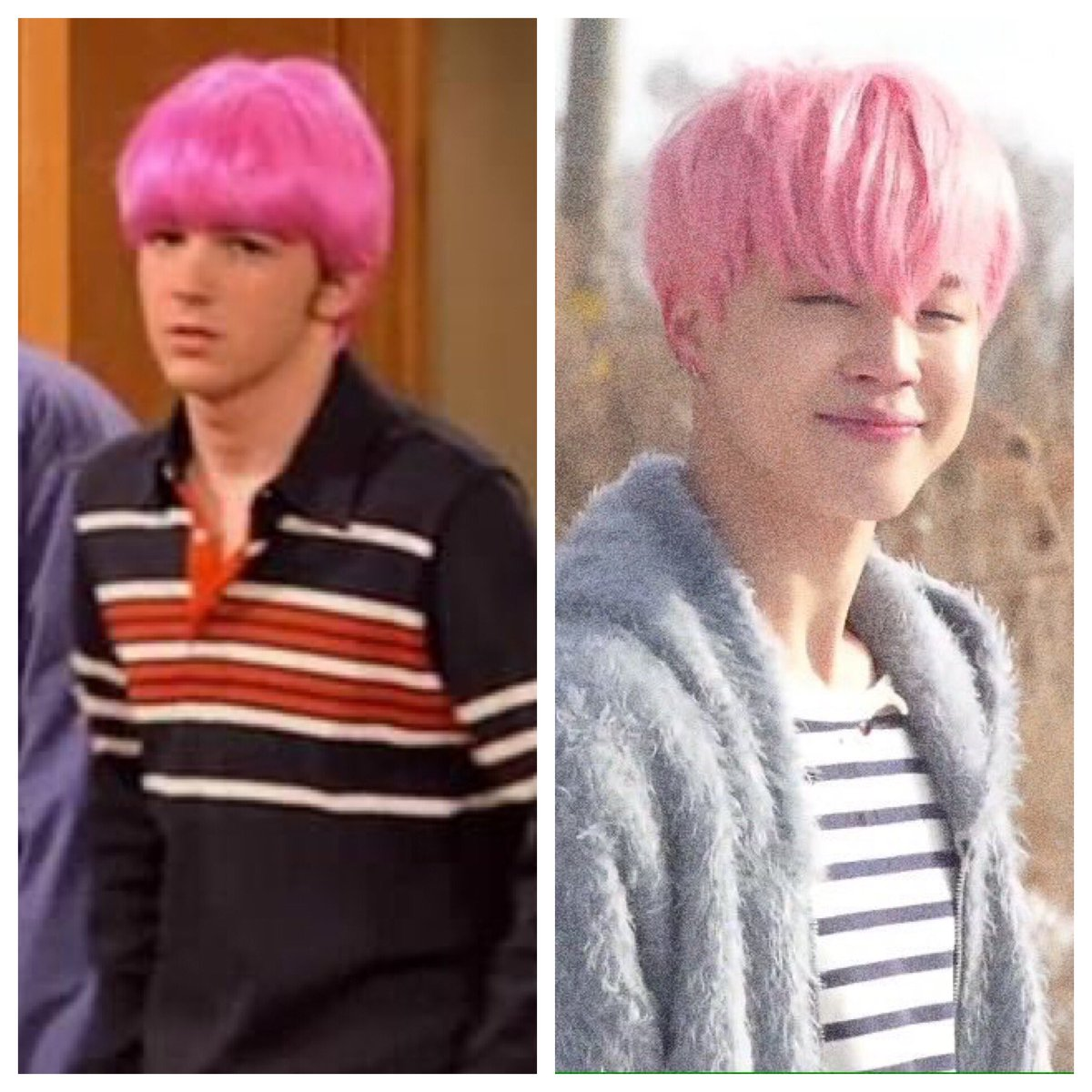 Who wore it better? Haha @BTS_twt