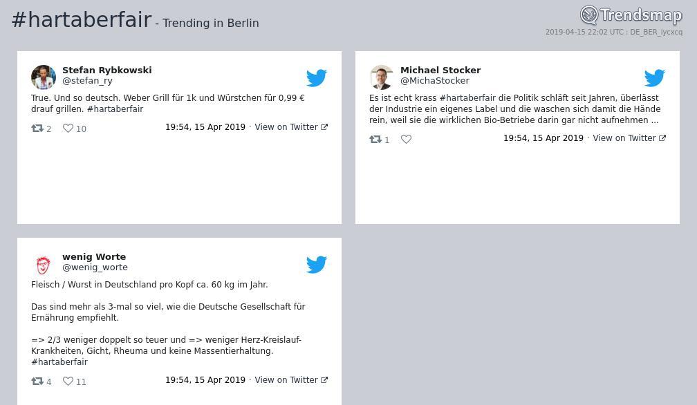 Trendsmap Berlin's photo on #hartaberfair