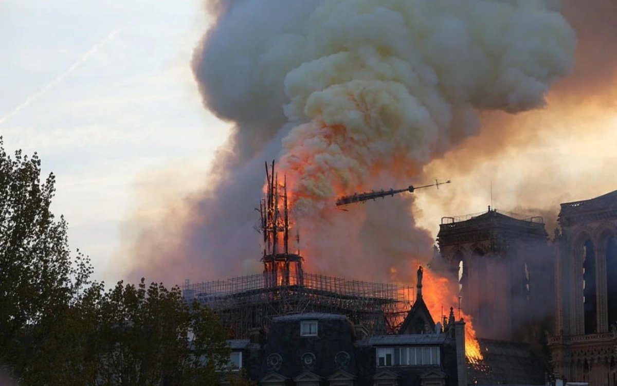 A terrible loss to humanity and civilization in Paris today We have cried bitterly today. #Noterdam #Paris  #Cathédrale_Notre_Dame_de_Paris #نوتيردام_باريس
