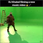 Image for the Tweet beginning: DJ Khaled filming a music