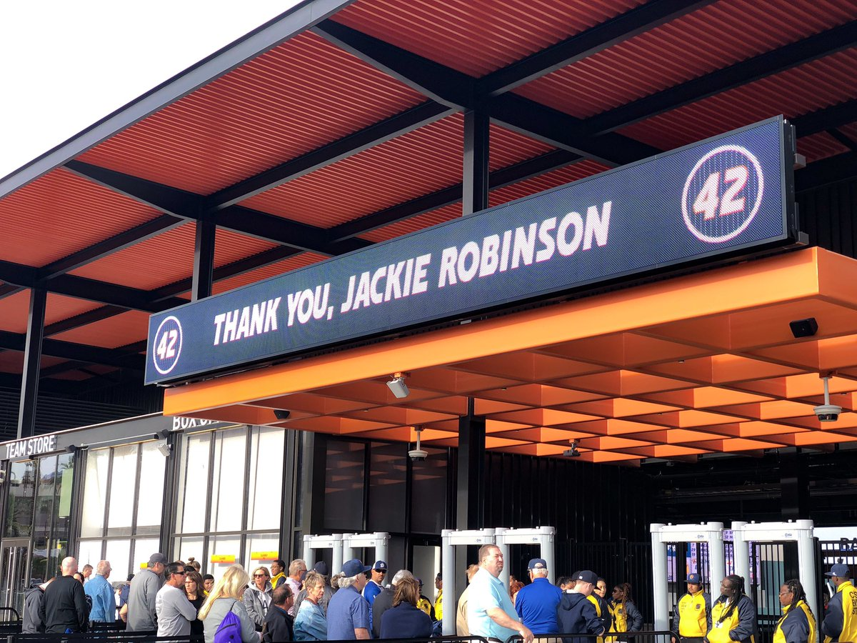 On this day, we join the entire @mlb and @MiLB communities in honoring Jackie Robinson, on the 72nd anniversary of his Major League debut. #JackieRobinsonDay <br>http://pic.twitter.com/TAq9U3dbIe