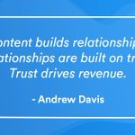 Don't underestimate the power of your brands content, it can build trust in all the right places. #contentmarketing