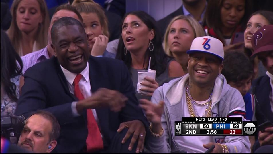 Dikembe Mutombo and Allen Iverson are loving the Boban experience <br>http://pic.twitter.com/Kjxg5Qp2zT