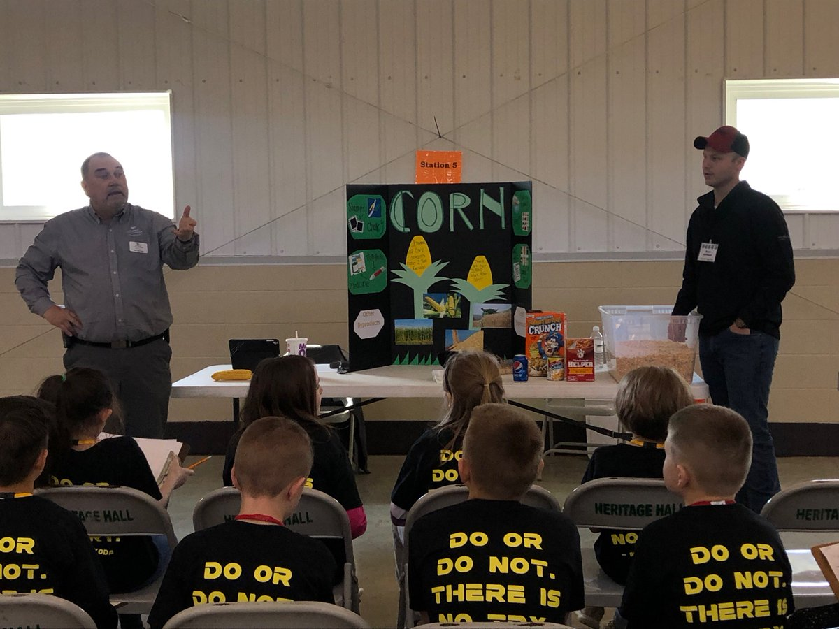Last Tuesday, Ceres Solutions employees Jim Sprowl and Ryan Hoffman educated the Huntington Co third graders about corn and its many uses in the children's lives everyday. This was part of the Ag Day program held at the Huntington Co Fairgrounds.