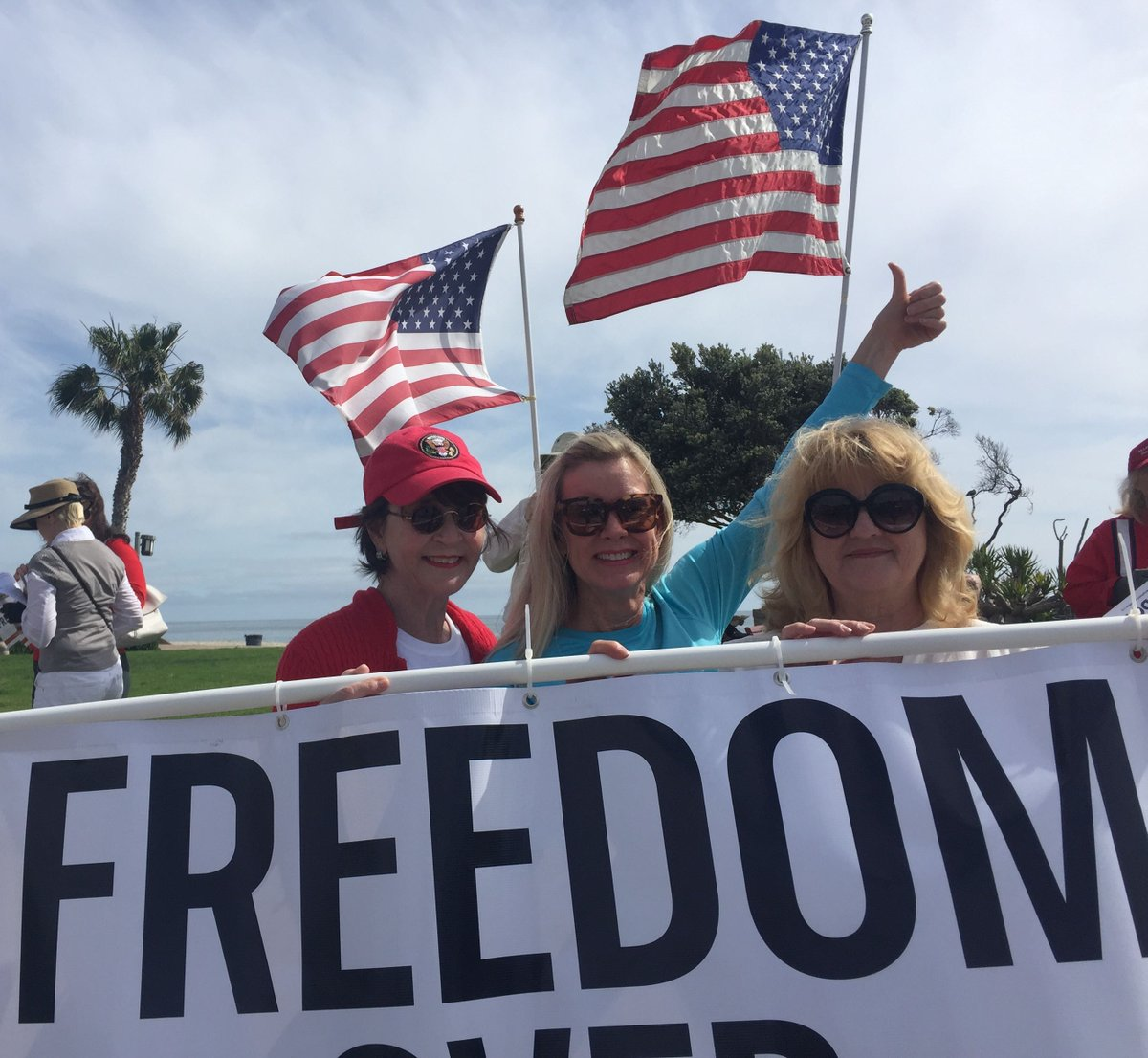 Linda Dorr and fellow #TeaParty activists were celebrating freedom in Laguna Beach, CA today!  #StopSocialismChooseFreedom #TeaParty10 <br>http://pic.twitter.com/gyo83OVWX6
