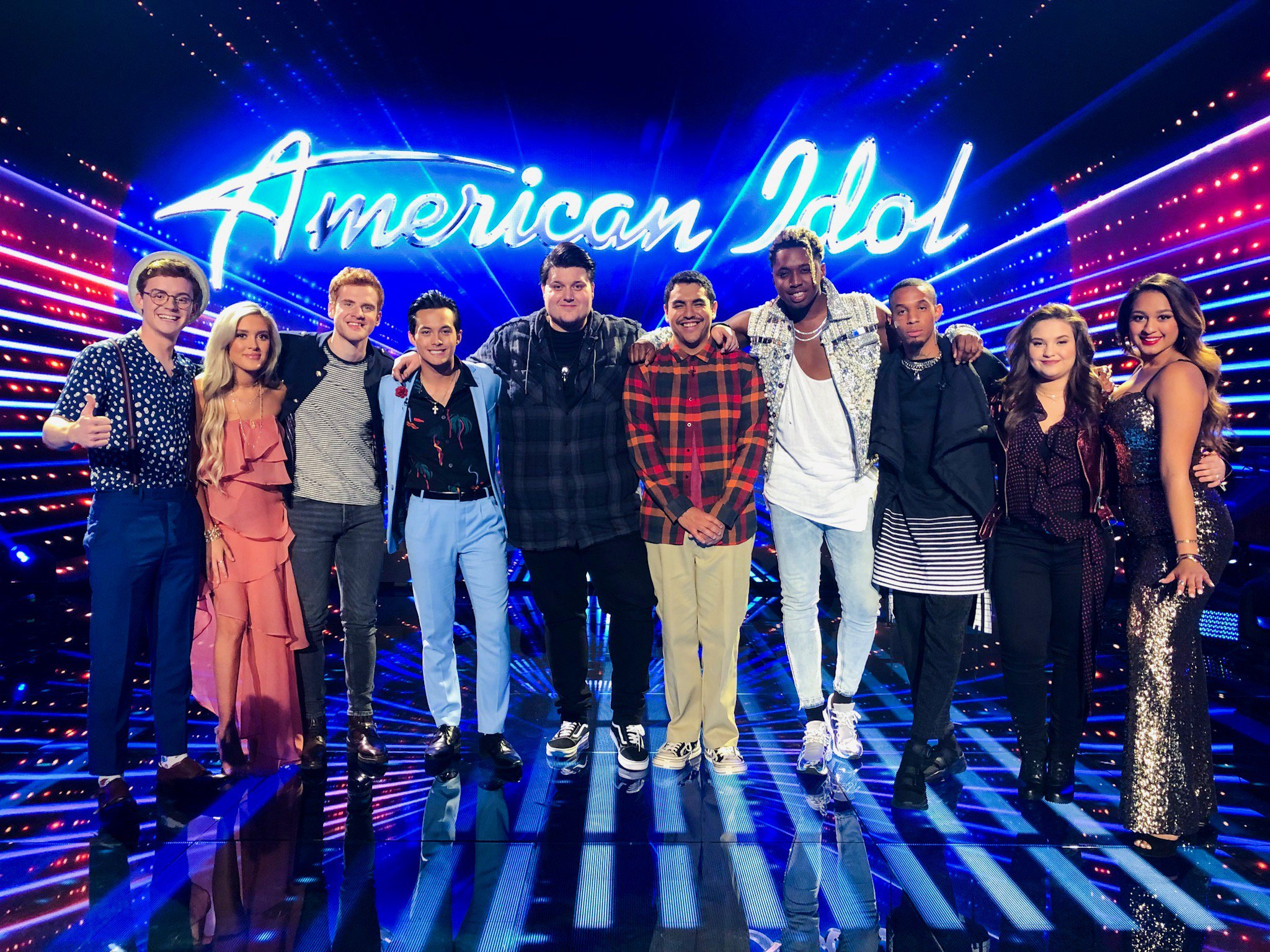 Here they are!!! Say hello to your Top 10! �� #AmericanIdol #Top10 https://t.co/MCEFkzbbrm