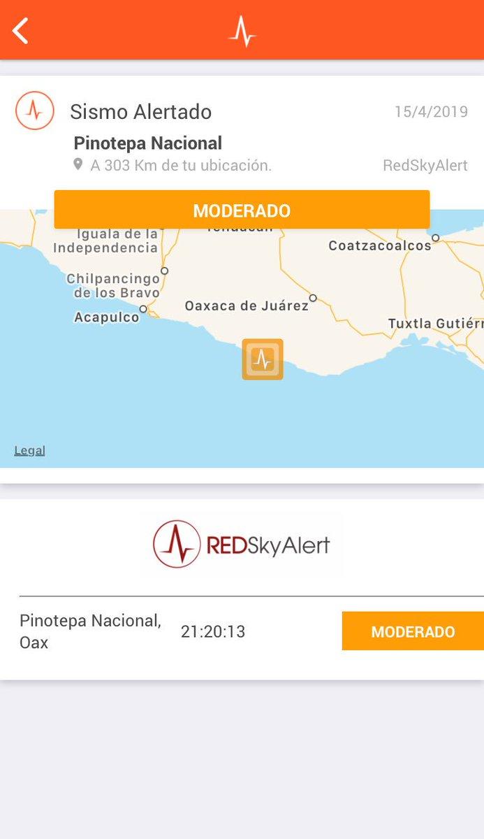 #Ahora - se registra sismo de intensidad «moderada» en la zona de Pinotepa Nacional, Oaxaca.