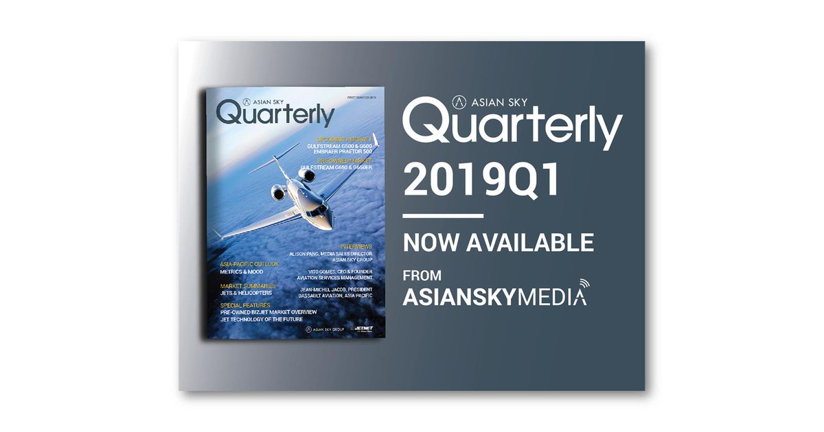 Find out the latest information on the Asia-Pacific pre-owned #BusinessJet and civil #Helicopter markets in Asian Sky Quarterly 2019 Q1, now available: http://bit.ly/ASQhome   #ASQ #dynamics #AsianSkyGroup #AsianSkyMedia