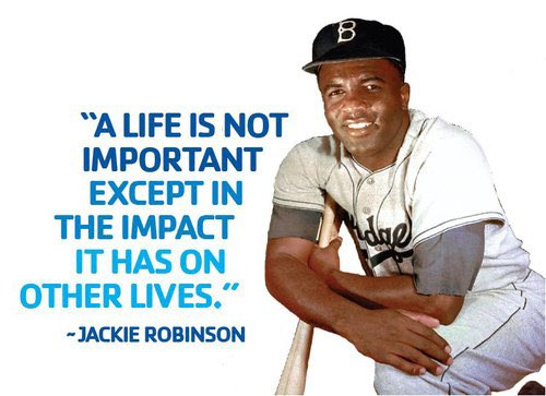 Today is a great day to give thanks to a man who changed the game and life for so many!! #42 #ThankYouJackie <br>http://pic.twitter.com/Kdbf0pl13r