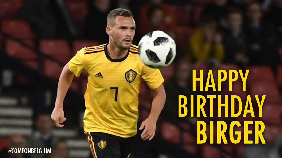 🎁⭐️ 25 ⭐️🎁  Happy B-Day Birger @Verstraete41! 😃  #COMEONBELGIUM 🇧🇪 #EuropeanQualifiers #EURO2020