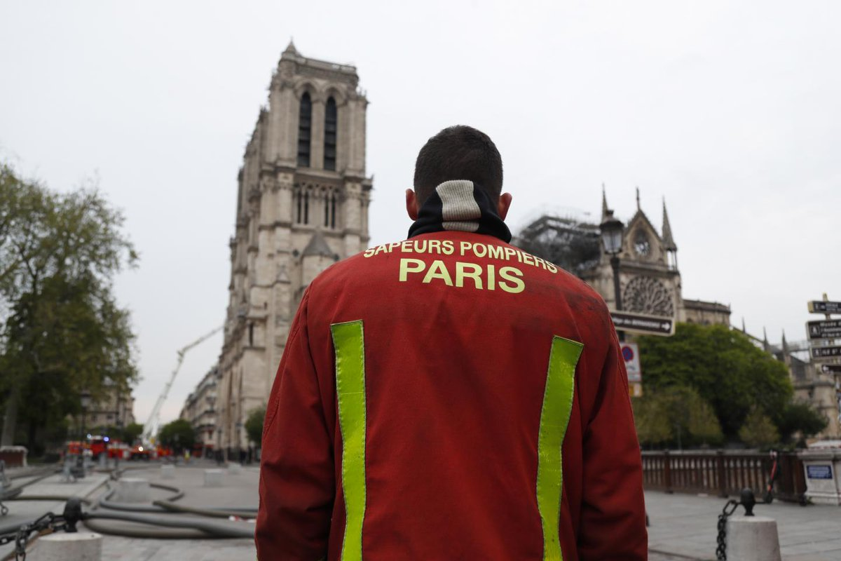 People are praising the firefighters for saving Notre Dame