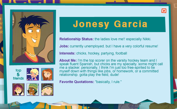 Michael Edwards On Twitter The 6teen Character Bios From The Cartoon Network Website Need To Be More Acknowledged
