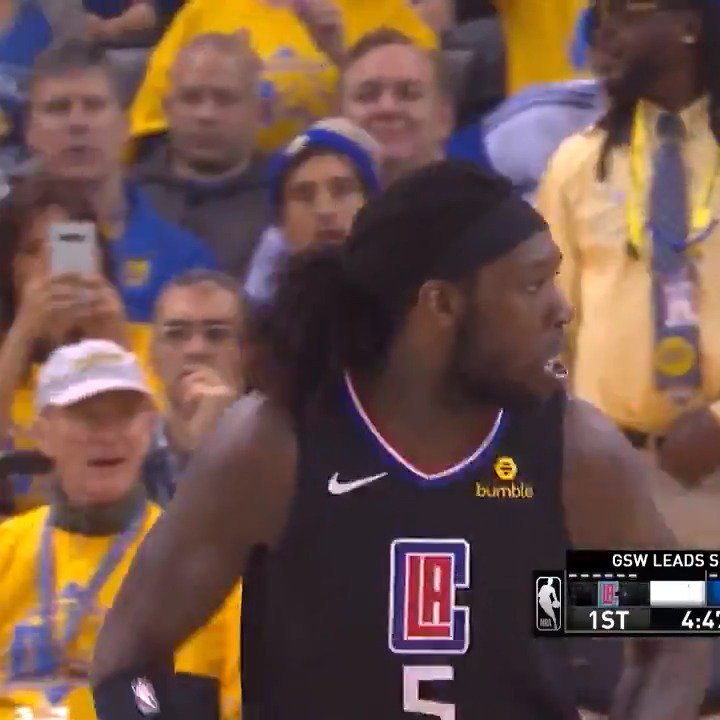 25 PTS | 9-9 FGM | 10 REB  @MONSTATREZZ comes up BIG in the @LAClippers victory in Oakland! #ClipperNation https://t.co/KNjEK724bs