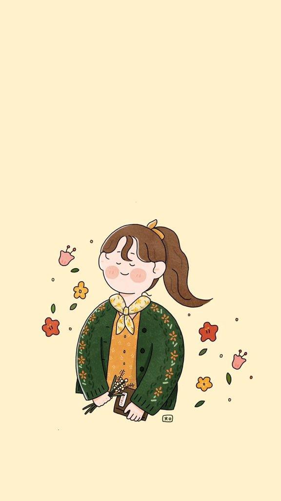 Lockscreen  Girls Illustration © pinterest Tweet added by
