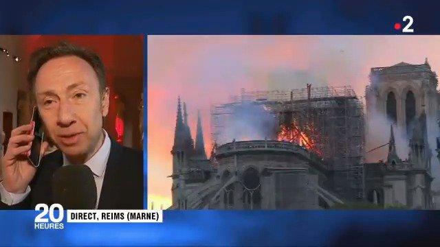 """#NotreDame """"Paris est aujourd'hui blessée, meurtrie. C'est un drame national"""", confie ému Stéphane Bern"""