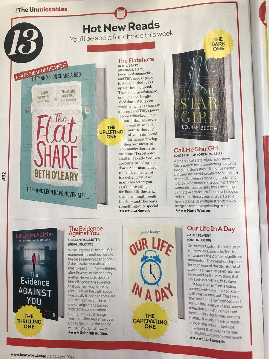 It's @heatworld day, and this week, we have 💥💥💥💥💥 books from @OLearyBeth @GillianMAuthor @jamiefewery and @LouiseWriter @orionbooks @OrendaBooks @PenguinUKBooks @QuercusBooks 💪🏻👏🏻🍷