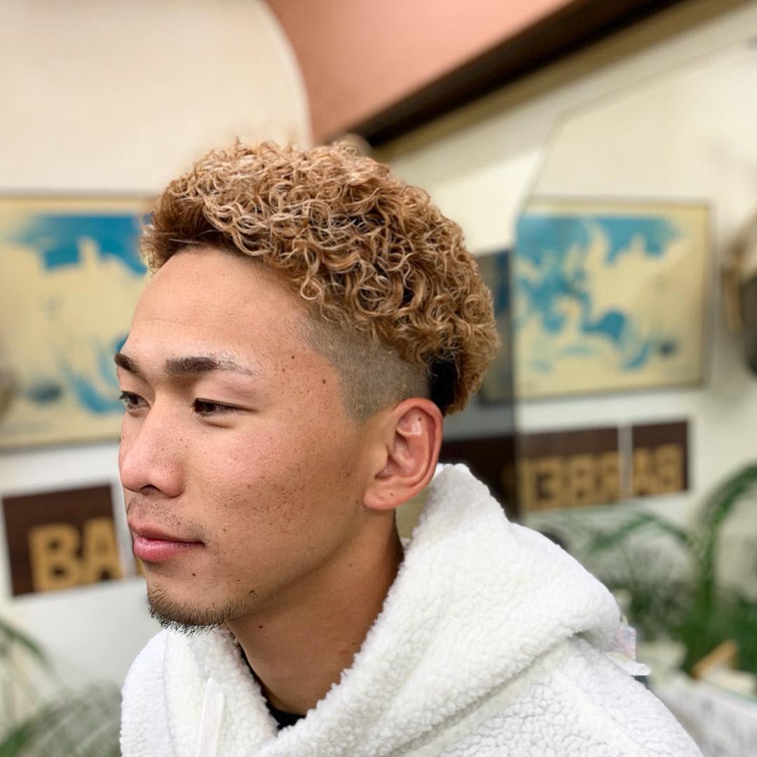 HD限定刈り上げ メンズ ショート パーマ 強め , Hair style