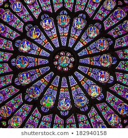 Miraculously, the Rosace Nord has survived (damaged but in tact).   The South & West windows were extensively restored during the 18th & 19th century.   The North Rose Window has been largely unaltered for 800 years. The glass is 13th century original.   #NotreDameCathedralFire