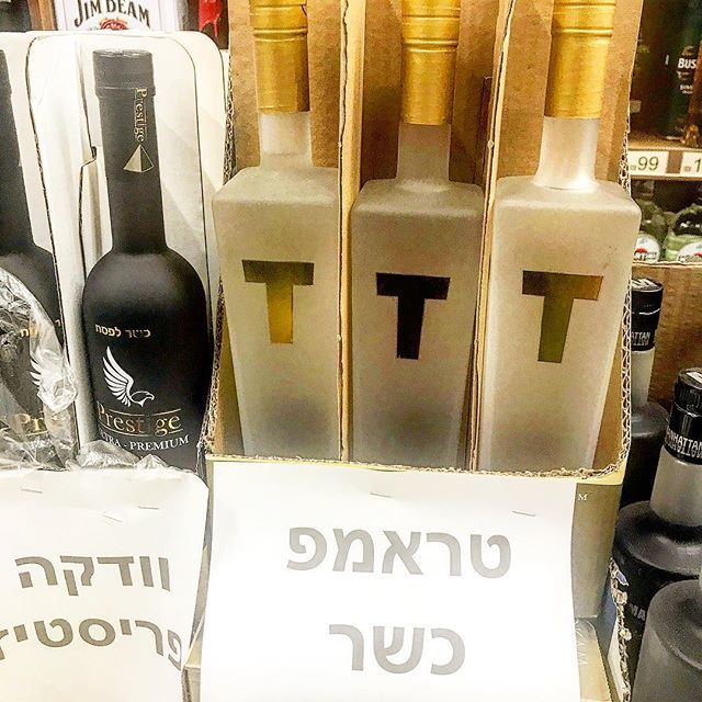 Just in time for #passover - #Kosher, potato-based Trump #Vodka. It's as good as the Presidency!<br>http://pic.twitter.com/NkuPPbylCo